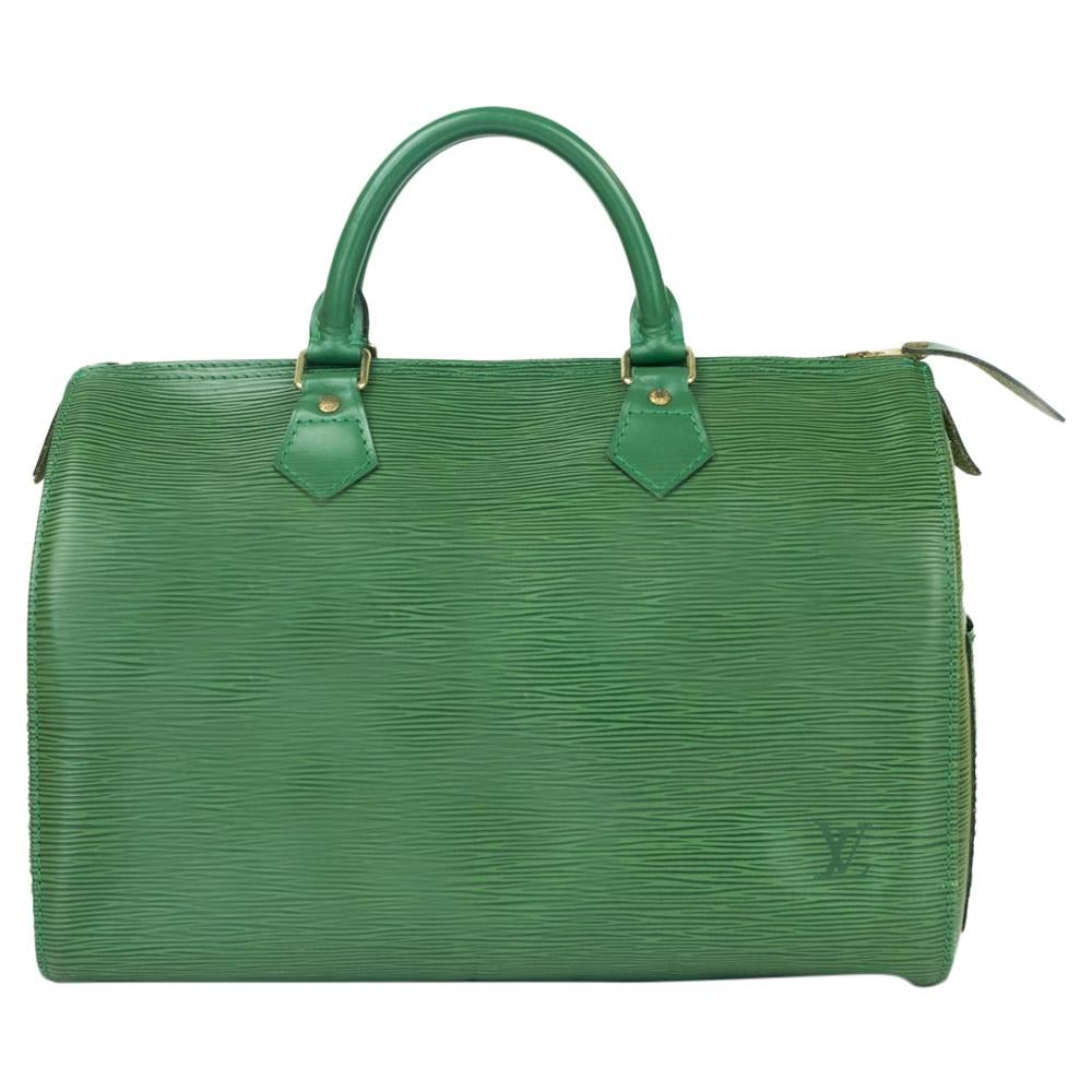 Louis Vuitton, Speedy in green leather
