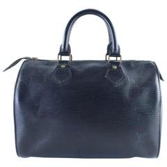 Louis Vuitton Speedy Noir Epi 25 17lr0126 Black Leather Satchel