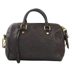 LOUIS VUITTON Speedy Shoulder bag in Brown Leather