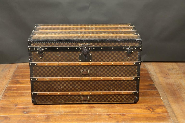 French Louis Vuitton Squares Trunk For Sale