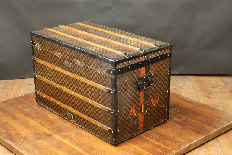 Late 19th Century Louis Vuitton Squares Trunk For Sale