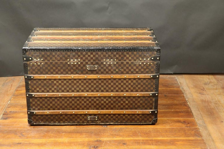 Metal Louis Vuitton Squares Trunk For Sale