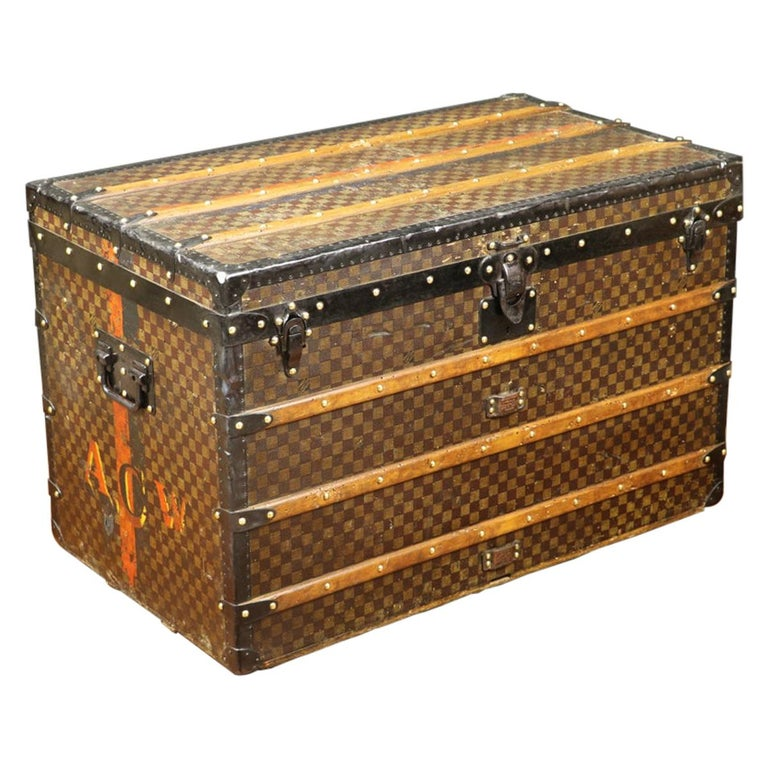 Louis Vuitton Squares Trunk For Sale