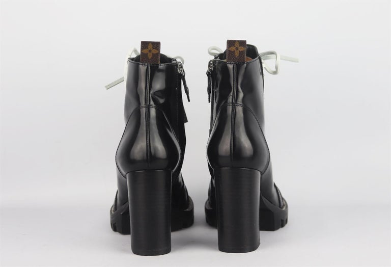 Black Louis Vuitton Star Trail Leather Ankle Boots For Sale