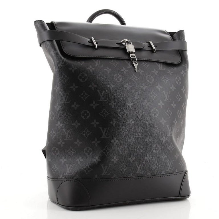 Louis Vuitton Steamer Backpack Monogram Eclipse Canvas In Good Condition For Sale In New York, NY