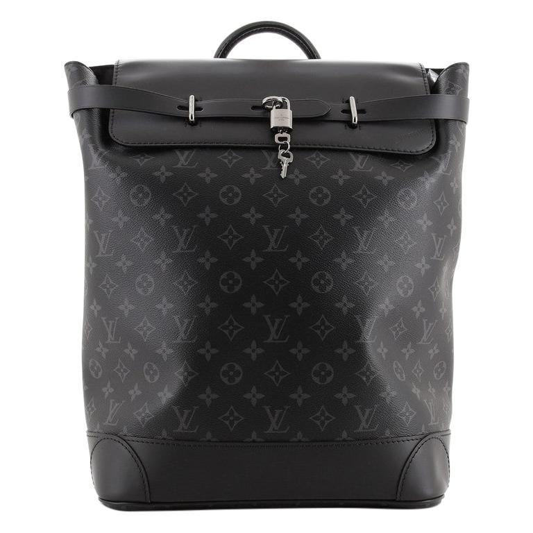 Louis Vuitton Steamer Backpack Monogram Eclipse Canvas For Sale