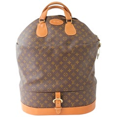 Louis Vuitton Steamer Bag Large Monogram Travel Tote Keepall Neiman Marcus 70s