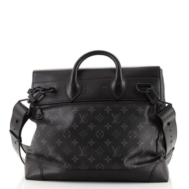 Louis Vuitton Steamer Bag Monogram Eclipse Canvas PM In Fair Condition For Sale In New York, NY