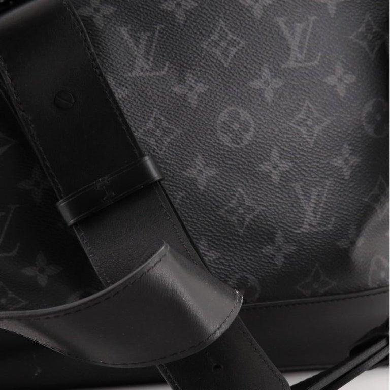 Louis Vuitton Steamer Bag Monogram Eclipse Canvas PM For Sale 3