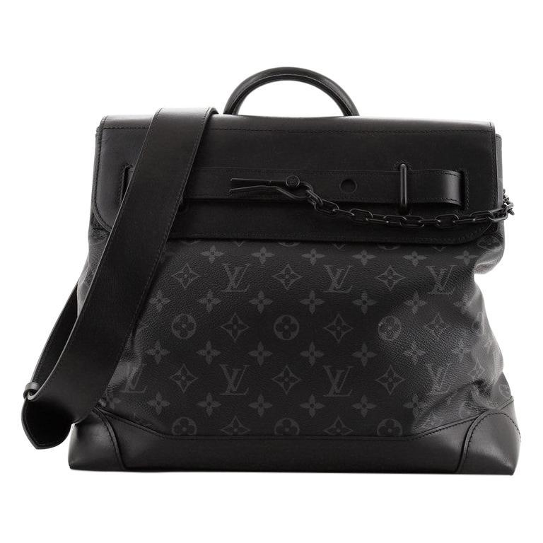 Louis Vuitton Steamer Bag Monogram Eclipse Canvas PM For Sale