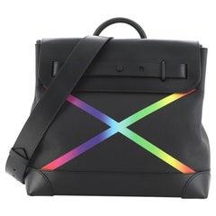 Louis Vuitton Steamer Bag Rainbow Taiga Leather PM