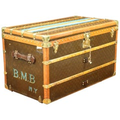 Louis Vuitton Steamer Monogram Trunk, circa 1926-1942