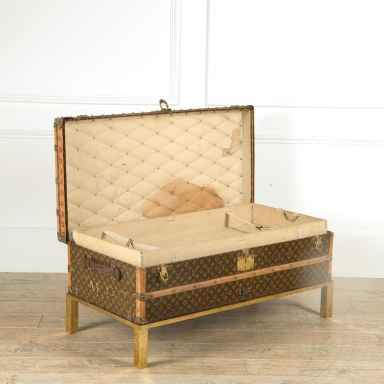 French Louis Vuitton Steamer Trunk