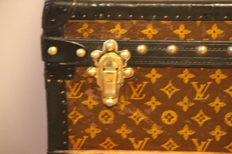 Art Deco Louis Vuitton Steamer Trunk, Louis Vuitton Cube Trunk, Louis Vuitton Trunk For Sale