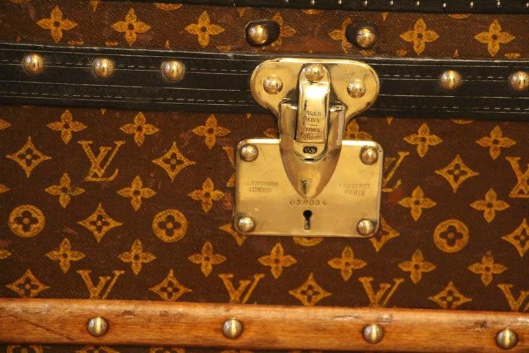 French Louis Vuitton Steamer Trunk, Louis Vuitton Cube Trunk, Louis Vuitton Trunk For Sale
