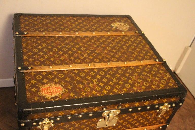 Mid-20th Century Louis Vuitton Steamer Trunk, Louis Vuitton Cube Trunk, Louis Vuitton Trunk For Sale