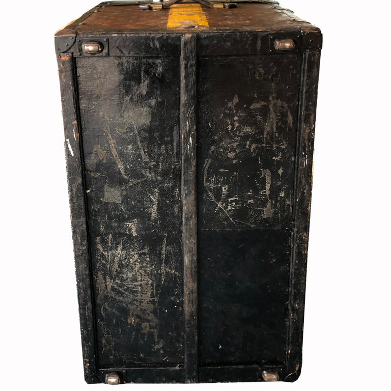 Louis Vuitton Steamer Trunk Monogram Canvas with 3 Insert Trays Early 20th C For Sale 2