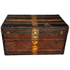 Louis Vuitton Steamer Trunk Monogram Canvas with 3 Insert Trays Early 20th C