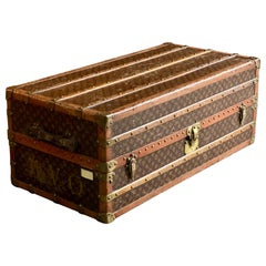 Louis Vuitton Steamer Trunk Wardrobe Trunk Chest France, circa 1920