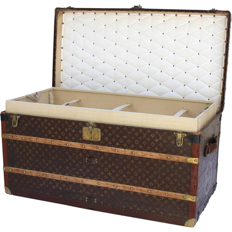 Louis Vuitton Steamer Trunk with MFBL Initials