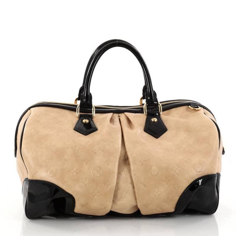 Louis Vuitton Stephen Handbag Monogram Embossed Leather Ogw754xNRH