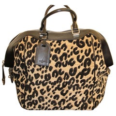 "Louis Vuitton-Stephen Sprouse Bag Limited Edition ""North South"" In Leopar Canvas"