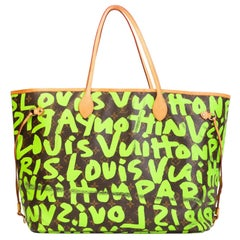 LOUIS VUITTON Stephen Sprouse Graffiti Neon Green Neverfull Gm Tote bag