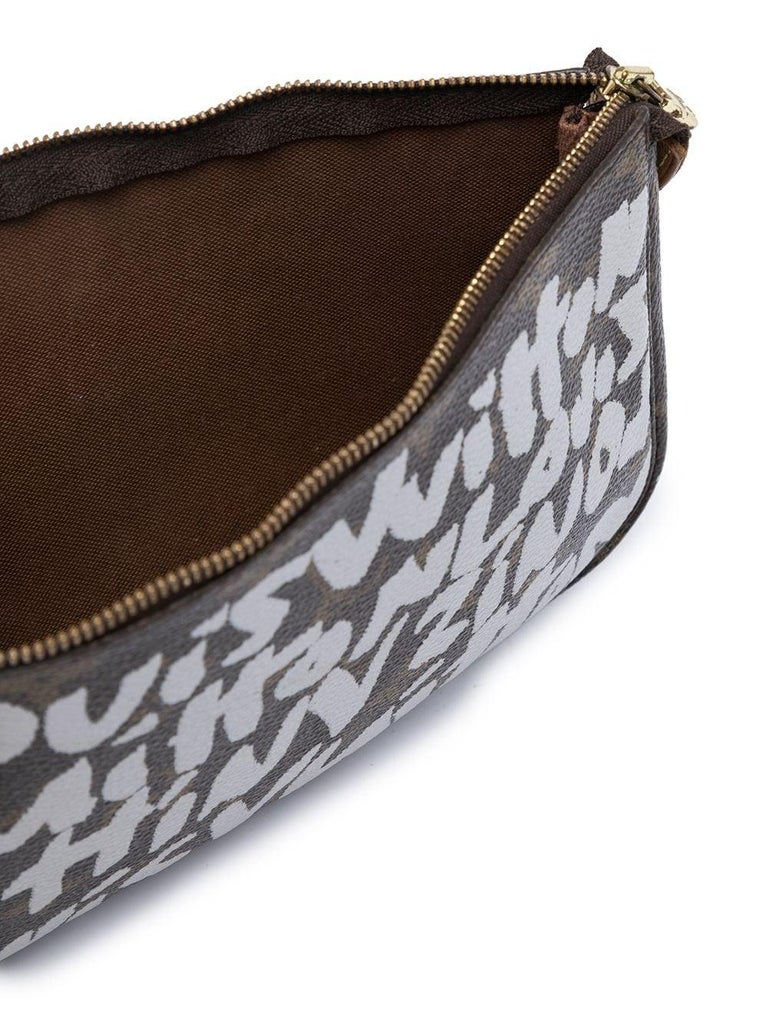 Gray Louis Vuitton Stephen Sprouse Pochette Bag For Sale