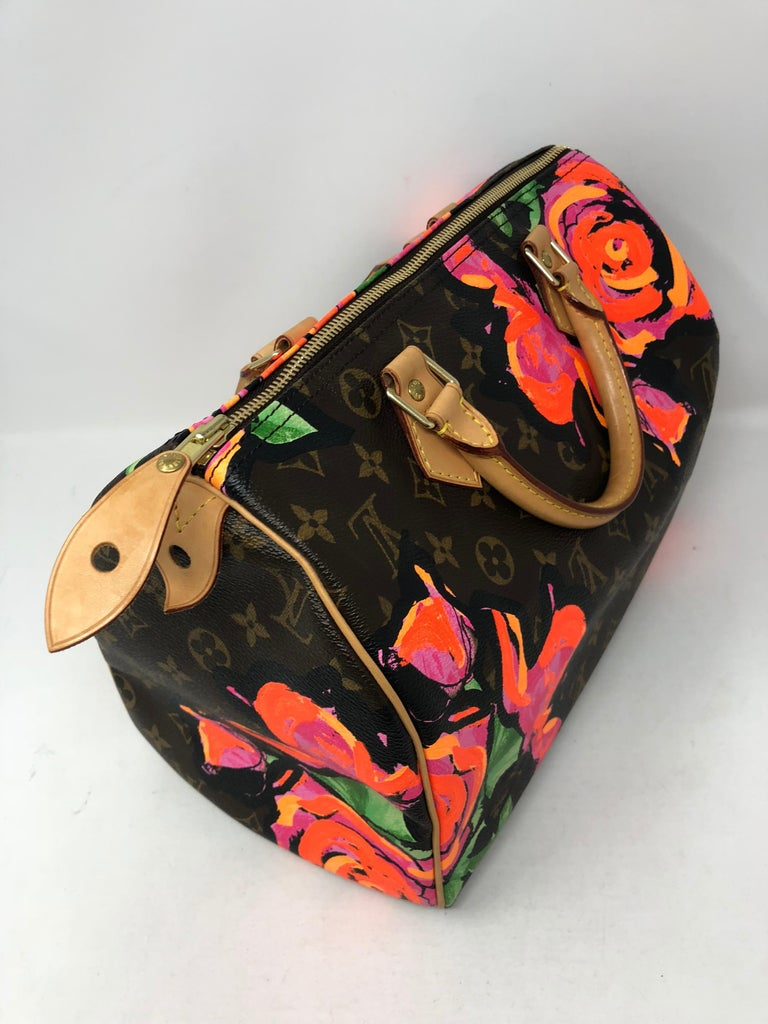 Louis Vuitton Stephen Sprouse Roses Speedy 30 In Good Condition For Sale In Athens, GA