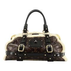 Louis Vuitton  Storm Handbag Limited Edition Monogram and Shearling