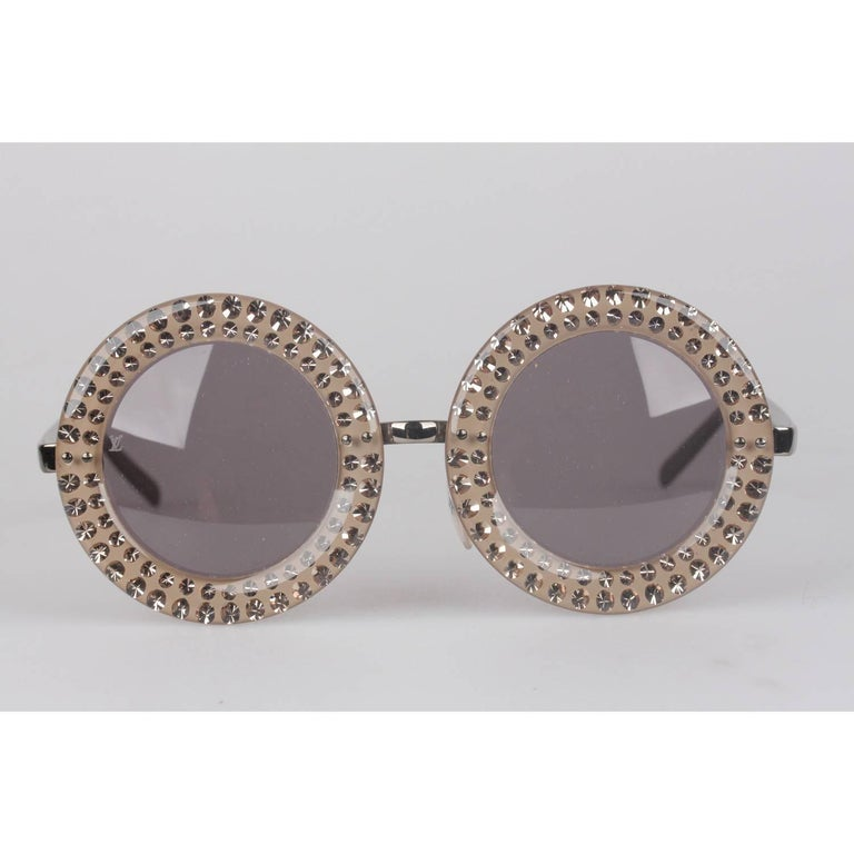 Louis Vuitton Strass Large Round Model Nelly Sunglasses Z0505U   For Sale 5
