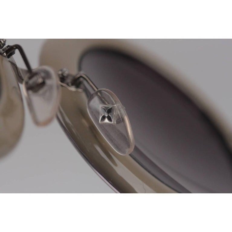 Louis Vuitton Strass Large Round Model Nelly Sunglasses Z0505U   For Sale 4