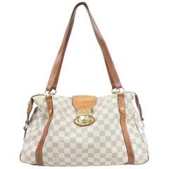 Louis Vuitton Stresa Damier Azur Gm 870447 White Coated Canvas Shoulder Bag