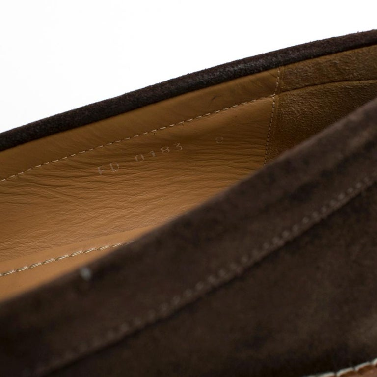 Louis Vuitton suede brown tassel loafers SIZE 8 For Sale 4