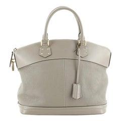 Louis Vuitton Suhali Lockit Handbag Leather MM