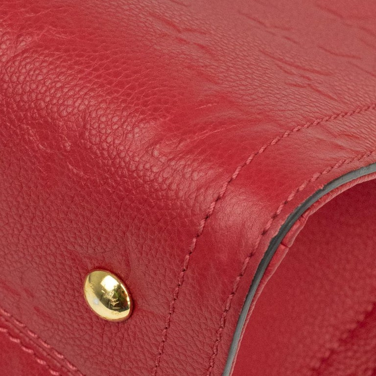 Louis Vuitton, Sully in red leather For Sale 5