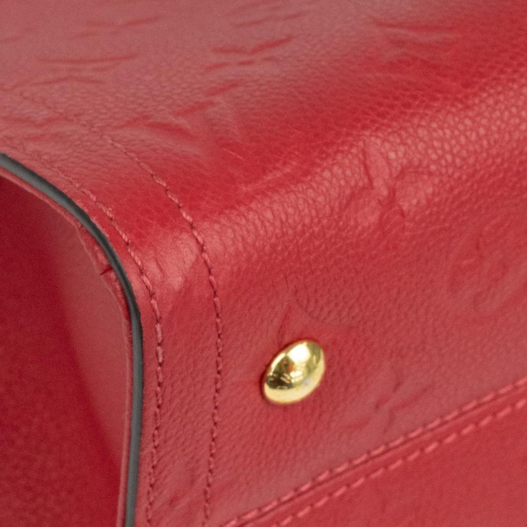 Louis Vuitton, Sully in red leather For Sale 6
