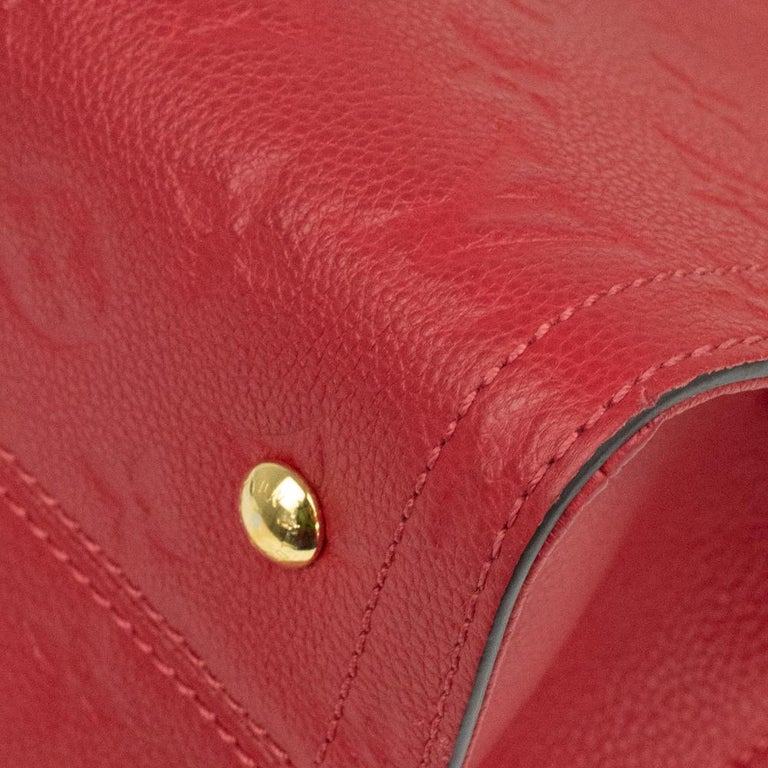 Louis Vuitton, Sully in red leather For Sale 7