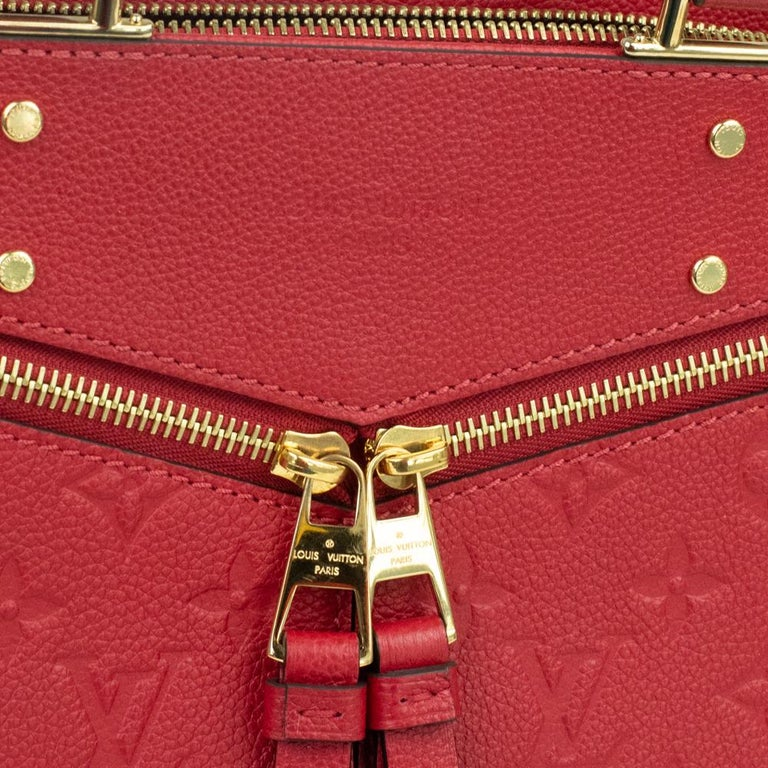 Louis Vuitton, Sully in red leather For Sale 8
