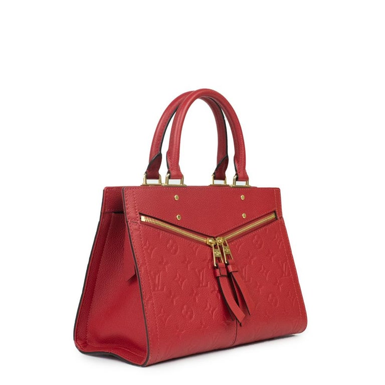 Red Louis Vuitton, Sully in red leather For Sale