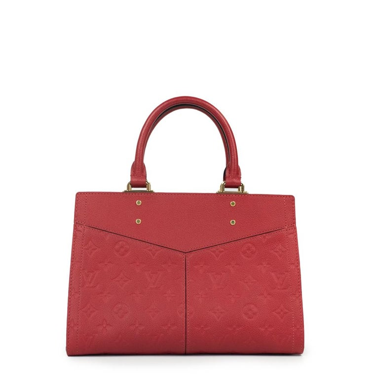 Louis Vuitton, Sully in red leather In Excellent Condition For Sale In Clichy, FR