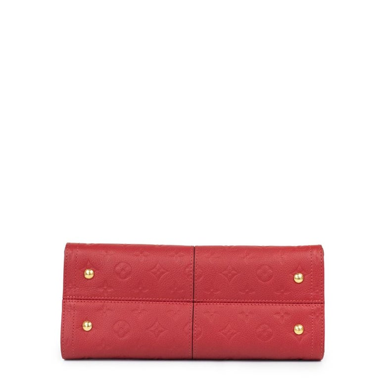 Women's Louis Vuitton, Sully in red leather For Sale