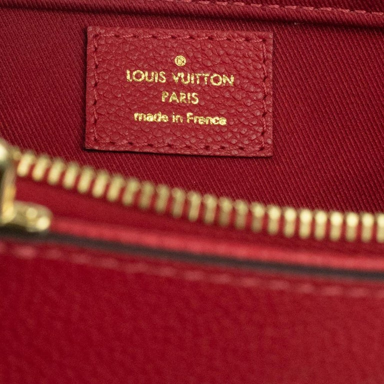 Louis Vuitton, Sully in red leather For Sale 2