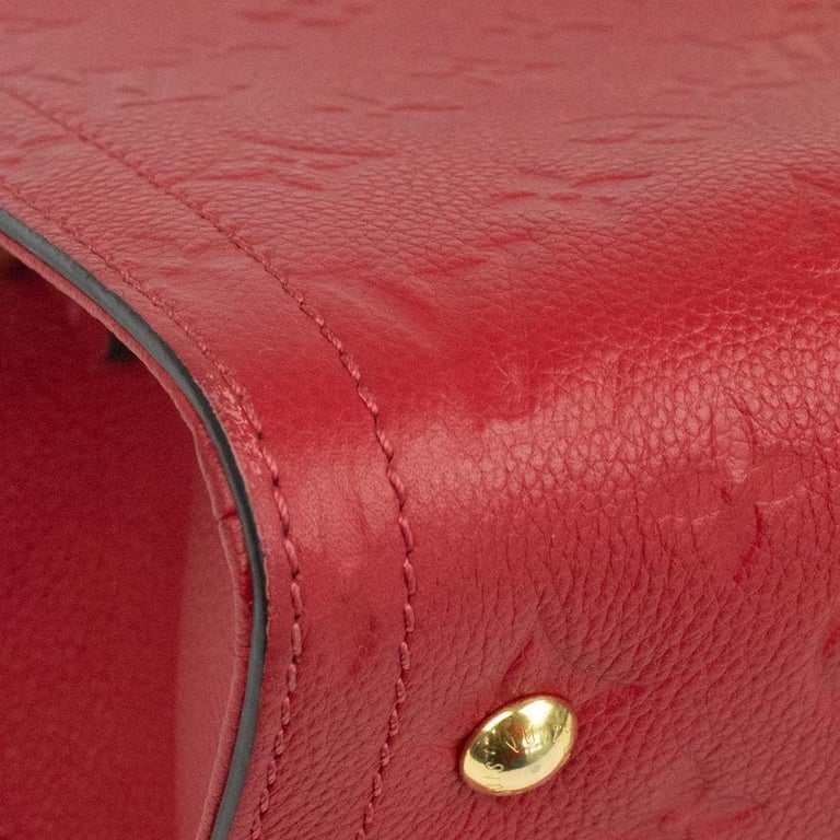 Louis Vuitton, Sully in red leather For Sale 4