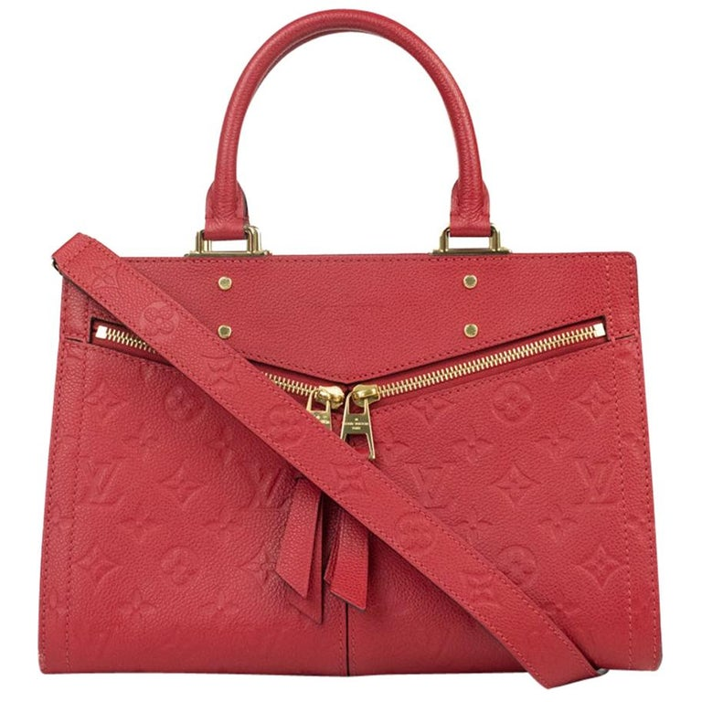 Louis Vuitton, Sully in red leather For Sale