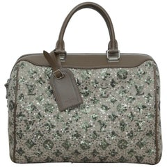 Louis Vuitton Sunshine Speedy 35 Sequin Monogram Express Khaki Tweed Satchel