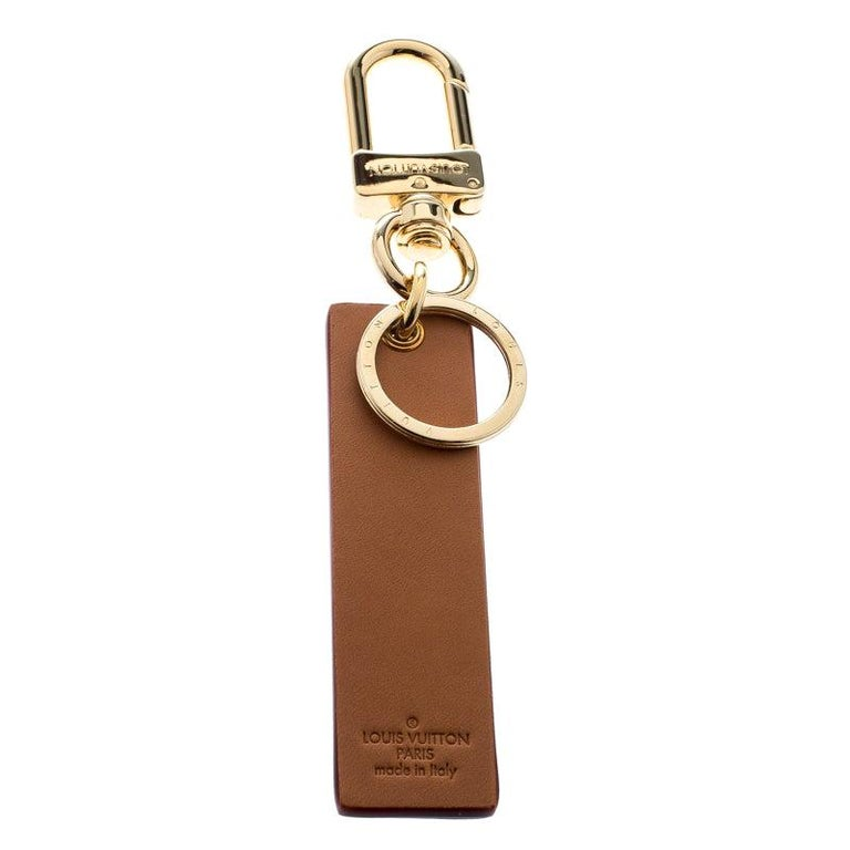 Louis Vuitton Supreme Logo Brown Leather Key Ring / Keychain For Sale