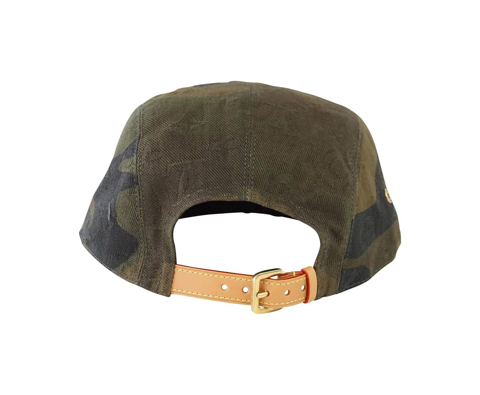 d35c6ca0360 Louis Vuitton Supreme X Limited Edition 5 Panels Camouflage Cap For Sale at  1stdibs