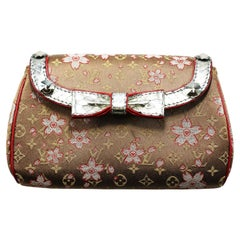 Louis Vuitton Takashi Murakami Monogram Satin Cherry Blossom Evening Purse