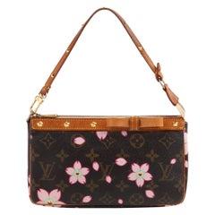 """LOUIS VUITTON & TAKASHI MURAKAMI """"Pochette Accessoires"""" Cherry Blossom Wristlet"""
